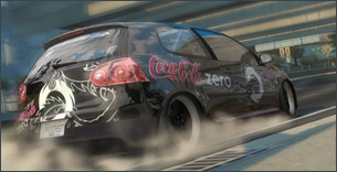 Creative Product Placement von Coke Zero in NFS: Pro Street von EA